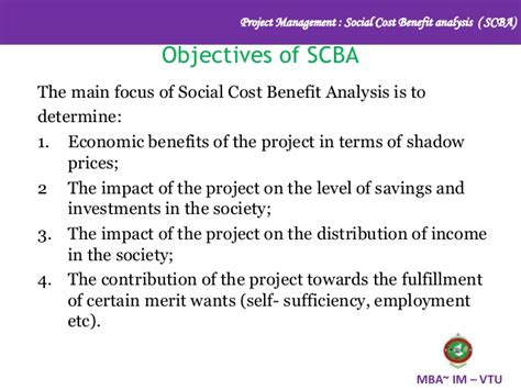 Financial Benefits Of Mba by Social Cost Benefit Analysis