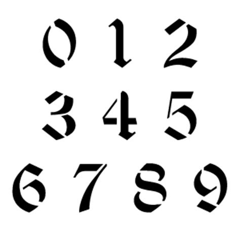 Printable Old English Numbers | ccn0055 old english number stencils buy this old english