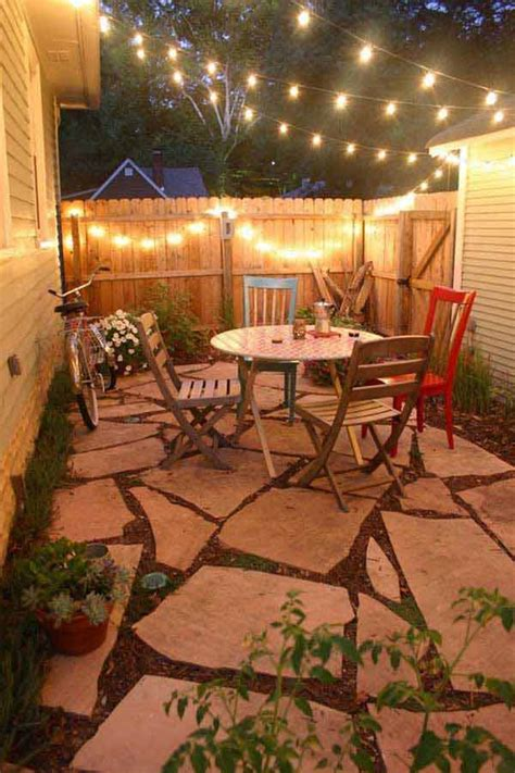 Patio Ideas For Small Yards 24 Jaw Dropping Beautiful Yard And Patio String Lighting