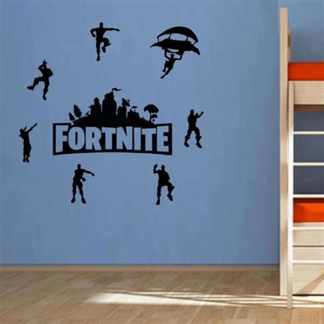 fortnite bedroom diy black fortnite wall stickers self adhesive bedroom