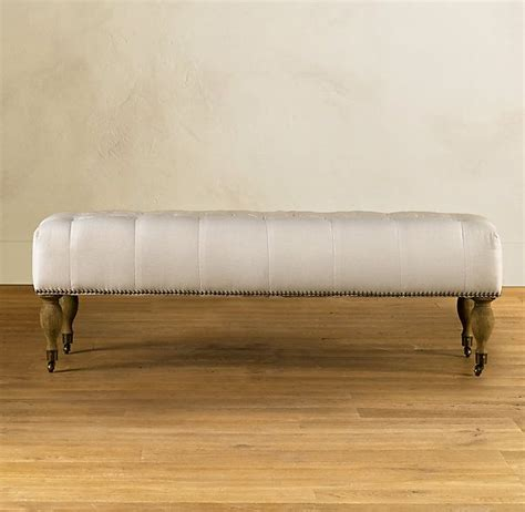 Tufted Restoration Hardware by Tufted Bench Ottomans Benches Restoration Hardware