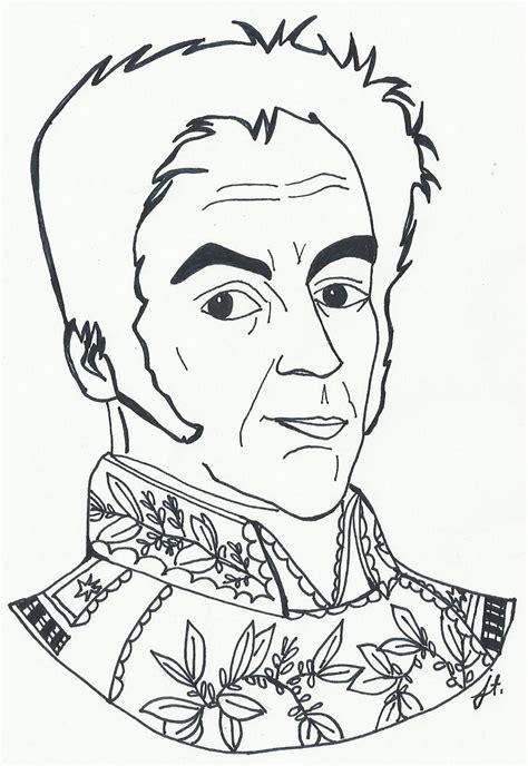 dibujos para colorear d simon bolivar dibujo de simon bolivar para colorear imagui