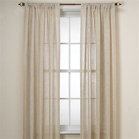bed bath and beyond curtain panels buy b smith barbados natural 108 inch window curtain