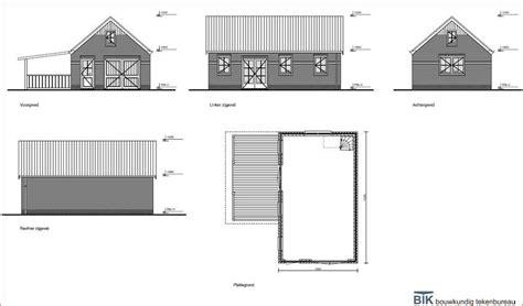 schuur bouwen tekening bouwtekening schuur en of garage werkspot
