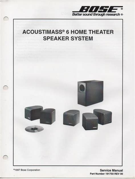 bose acoustimass 7 home theater speaker system manual