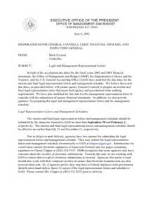 legal and management representation letters