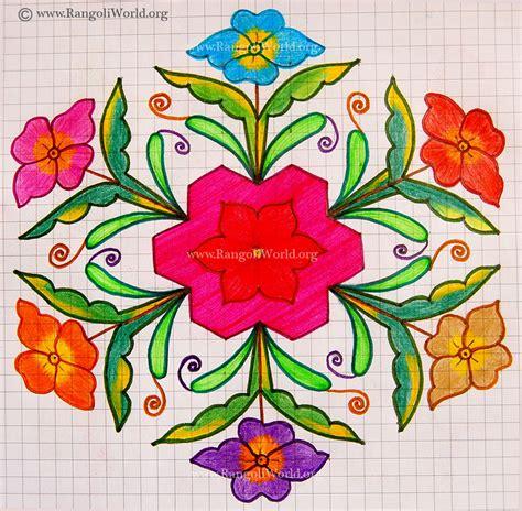 flower design pulli kolam daisy flower kolam may13