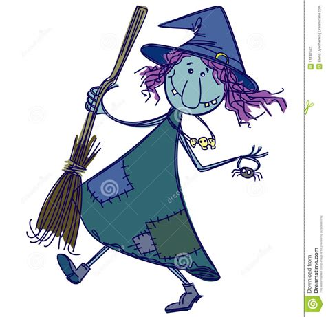 doodle witch hat doodle witch stock vector image of doodle