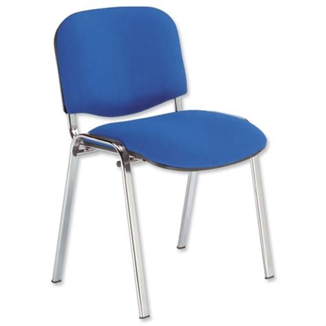 blue upholstered desk chair fabric upholstered stacking chair with chrome legs blue