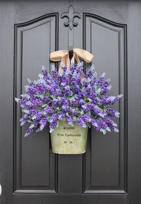 Lavender Wreaths Lavender Fields Spring Flowers Summer Front Door Hanging Decorations