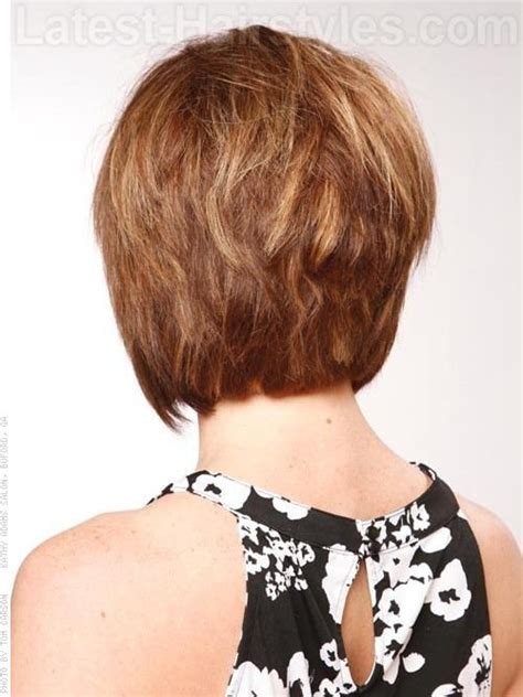 piecey short haircuts piecey stacked short haircut back view hair pinterest