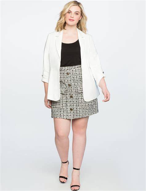 Tweed A Line Skirt tweed a line skirt with pockets s plus size skirts