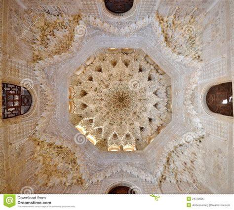 plafond droit de succession plafond d alhambra photo libre de droits image 21720695