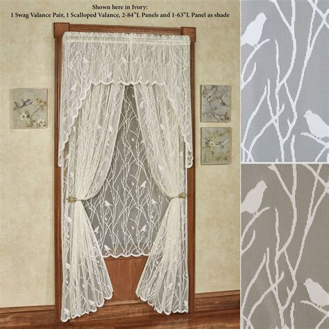 Bird Window Curtains Bird Lace Curtains Bird Song Lace Swatch Country Curtains 174 Pin By Sheryl Leis On