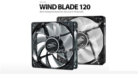 Promo Deepcool Wind Blade White Led With Hydro Bearing Fan 12 deepcool wind blade 120 hydro bearing semi transparent