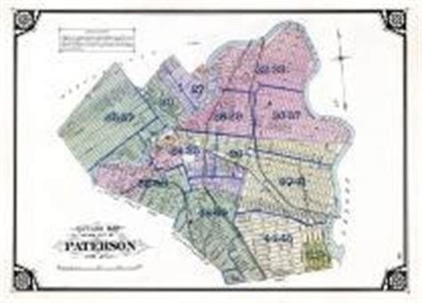 map of paterson new jersey index map paterson city outline map atlas passaic
