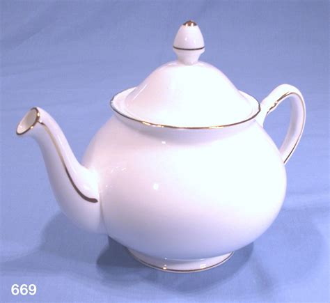 Duchess Vintage White Bone China Teapot ? SOLD: Collectable China