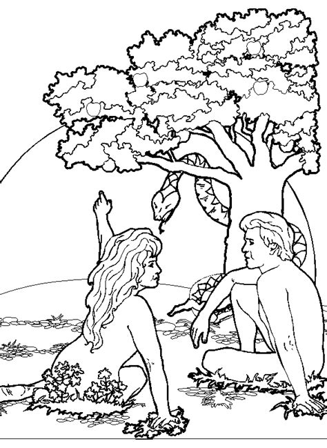 Free Coloring Pages Of Adam And Eve Not Adam And Coloring Page
