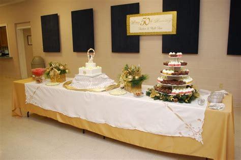 anniversary refreshment table  wedding