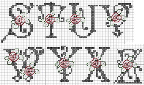 lettere ricamate a punto croce schema alfabeto 36 schema da ricamare a puntocroce