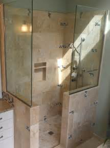Ideas For Doorless Shower Designs Doorless Walk In Shower Small Bathroom Studio Design Gallery Best Design