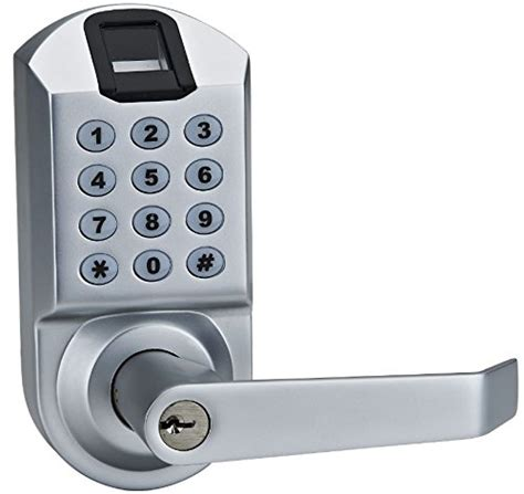 Interior Door Lock Keypad Scyan X7 Electronic Fingerprint Keypad Keyless Entry Door Lock System Silver Hardware Hardware