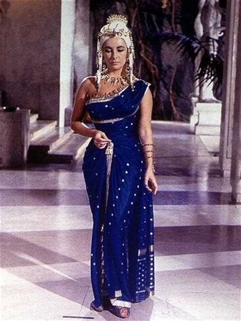 film blue cleopatra elizabeth taylor s blue dress and jewelery in cleopatra