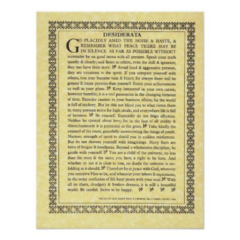 desiderata poesia testo desiderata poem max ehrmann parchment collection poster