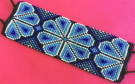mexican huichol loom beaded peyote bracelet