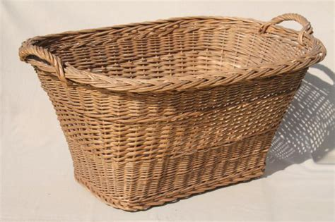 Vintage French Country Chic Wicker Laundry Her Big Old Big W Laundry