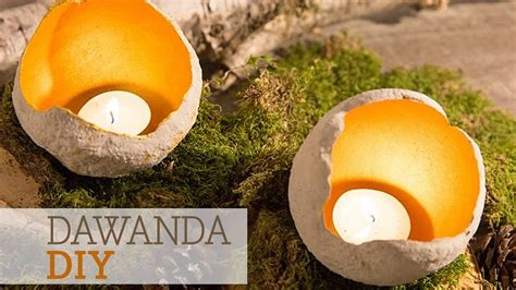dawanda diy windlichter aus beton selber machen youtube