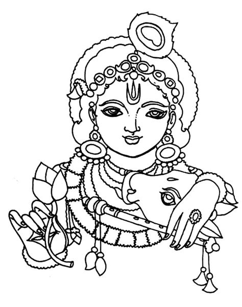 Baby Krishna Images Coloring Pages by Baby Krishna Images Coloring Pages