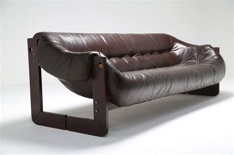 percival lafer sofa leather and rosewood percival lafer sofa at 1stdibs
