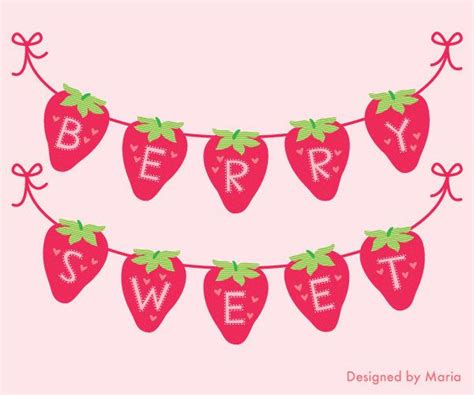 strawberry shortcake printable birthday banner 17 best images about niver clara on pinterest party