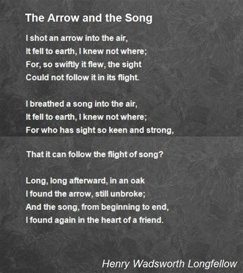 song poem the arrow and the song poem by henry wadsworth longfellow