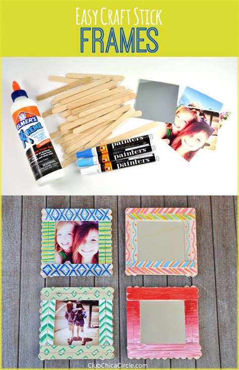 picture frame pattern ideas craft stick photo frames diy