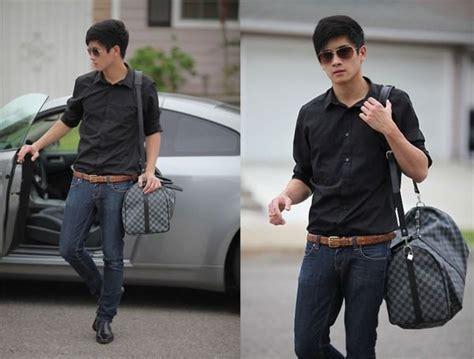 Kemeja Icha Onde Belt camisa preta social aprenda como combinar bar metrosexual