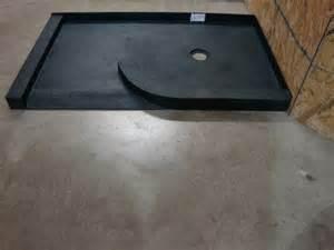 custom shower base tile concrete solid surface