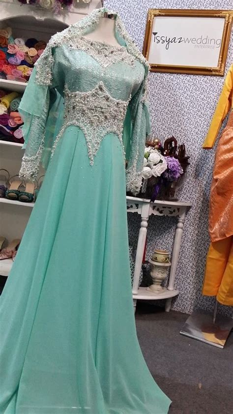 Dress Muslim Catrine Green Byk Warna baju pengantin songket terbaru 2015 wedding dress wedding dress niqab and