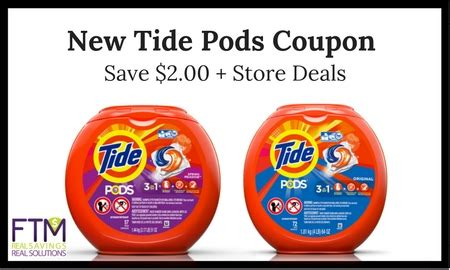 tide printable coupons 2 00 off new tide pods coupon save 2 00 cheap store deals ftm