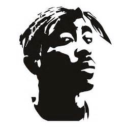 Wall Stencils For Bedrooms tupac wall sticker rapper wall decal art what s it worth
