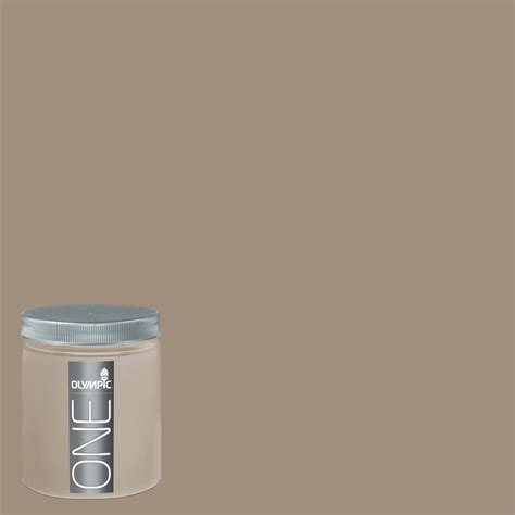 shop olympic 8 oz oyster shell interior satin paint sle at lowes