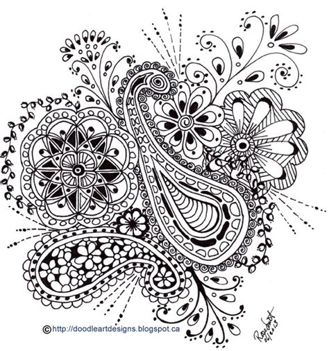 doodle designs to print doodle designs paisley print with flowers in black