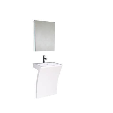 Bathroom Vanity For Pedestal Sink by 22 5 Inch White Modern Pedestal Sink Bathroom Vanity With
