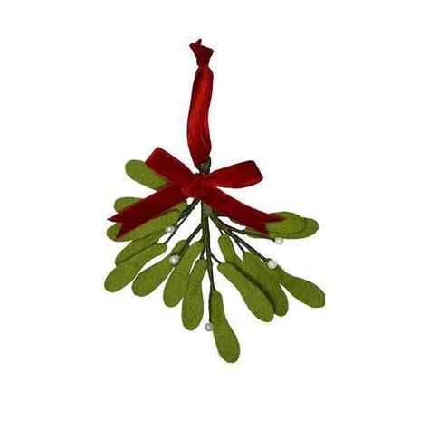handmade felt mistletoe decoration by the christmas home
