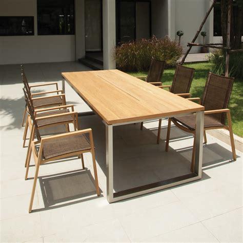 table de jardin imitation teck jsscene des id 233 es