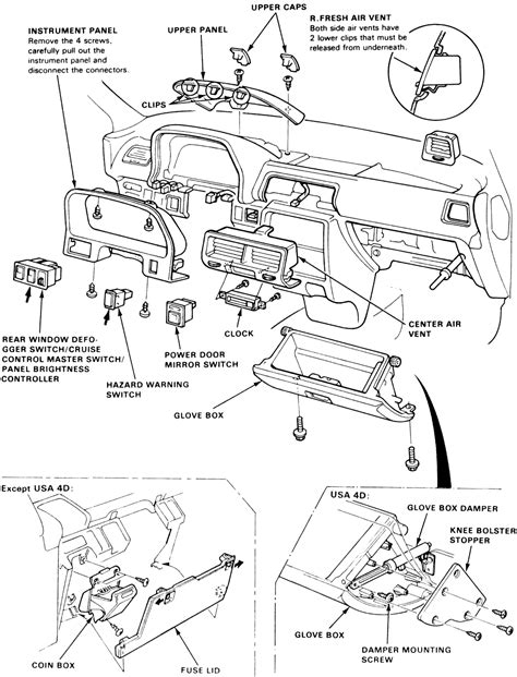 91 crx fuse box diagram get free image about wiring diagram