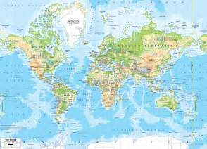 map of world physical map ezilon maps