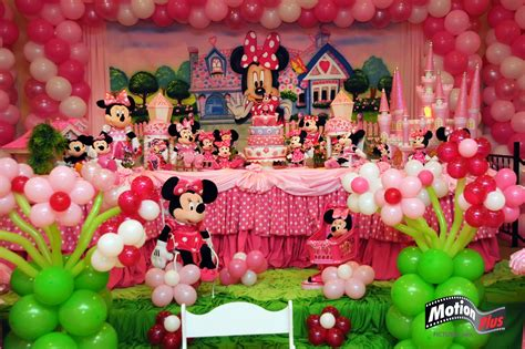 motion  pictures minnie themed birthday party ideas