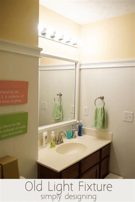 install bathroom light fixture no junction box install bathroom light fixture replacing bathroom light